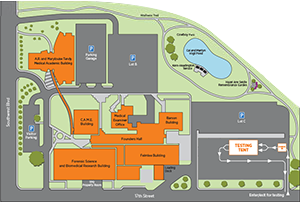 OSU-CHS Campus Map Footer